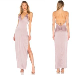 NEW By The Way. X REVOLVE Kamari Satin Maxi Dress